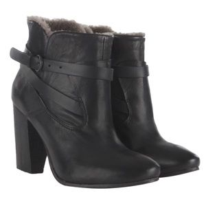 HP⚡️AllSaints Shearling Hyde Ankle Boot / Black